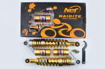 Амортизаторы (пара) Delta 030mm, газомасляные (золотистые) NDT