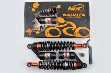 Амортизаторы (пара)   Delta   340mm, газомасляные   (черные перламутровые)   NDT