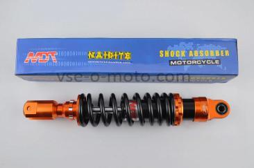 Амортизатор   GY6, DIO ZX, LEAD   320mm, тюнинговый   (оранжево-черный)   NDT