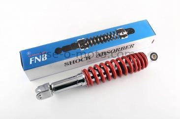 Амортизатор   GY6, DIO ZX   325mm, регулируемый   (красный)   FNB