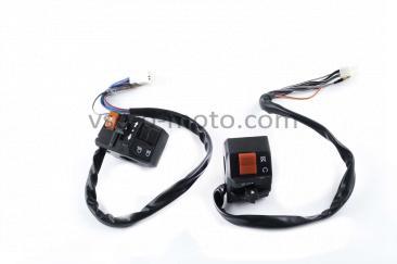 Блоки кнопок руля (пара)   Zongshen SPARK R6   (черные)   XVP