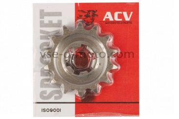 Звезда трансмиссии (передняя)   ВОСХОД   428-14T    (сталь 20)   ACV