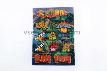 Наклейки (набор)   Alpha   (33х22см, разноцветные)   SEA