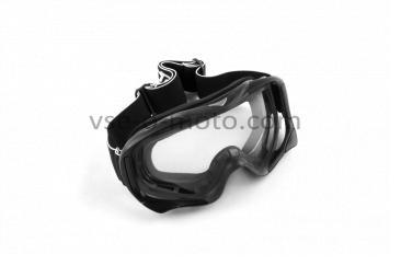 Очки кроссовые   (mod:MJ-72, черные с прозрачным стеклом)