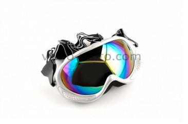 Очки кроссовые   (mod:MJ-13, белые, стекло хамелеон)