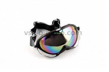 Очки кроссовые   (mod:MJ-13, черные, стекло хамелеон)