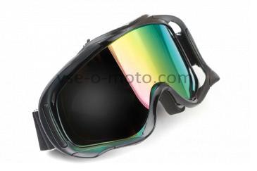 Очки кроссовые   KML   (mod:WL-EC011, черные, стекло хамелеон)