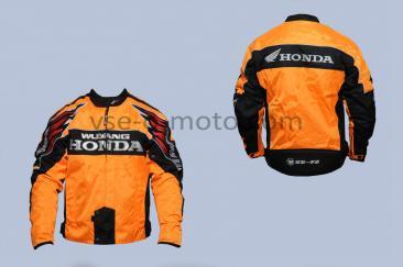 Мотокуртка   HONDA   (текстиль) (size:XL, оранжево-черная)
