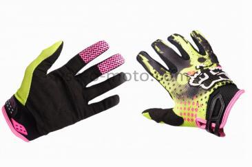 Перчатки   FOX   (mod:3, size:XL, зелено-черные)