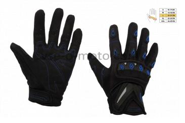 Перчатки   SCOYCO   (mod:MC-10, size:L, синие, текстиль)