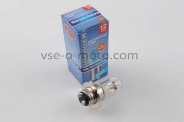 Лампа P15D-25-3 (3 уса)   12V 35W/35W   (белая)   BEST   (mod:A)