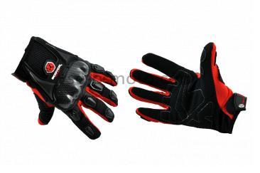 Перчатки   SCOYCO   (mod:HD-12, size:M, красные, текстиль, карбон)