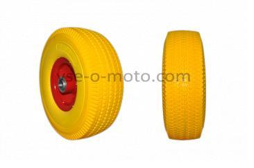 Колесо   4,00 -4   TL   (бескамерное, под ось d-20мм )   (желтое)   ELIT