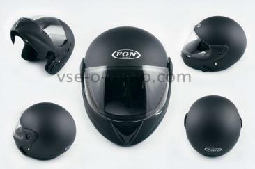 Шлем трансформер   (mod:266) (size:L, черный матовый)   FGN