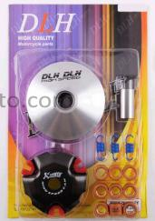 Вариатор передний (тюнинг)   4T GY6 50 спорт   (Ø101mm, ролики латунь 9шт, палец Ø20mm, пружины сцепления)   DLH